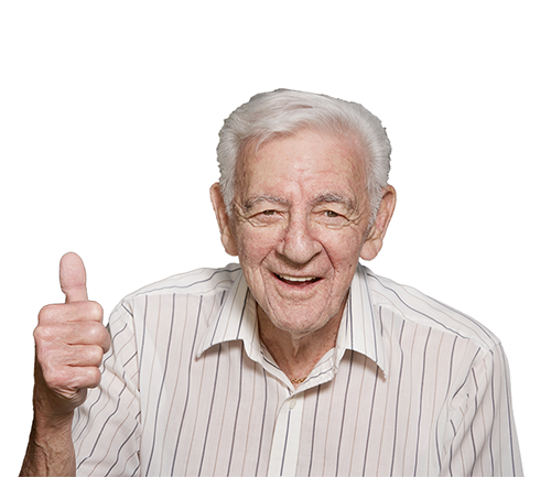 Old Man Thumbs Up