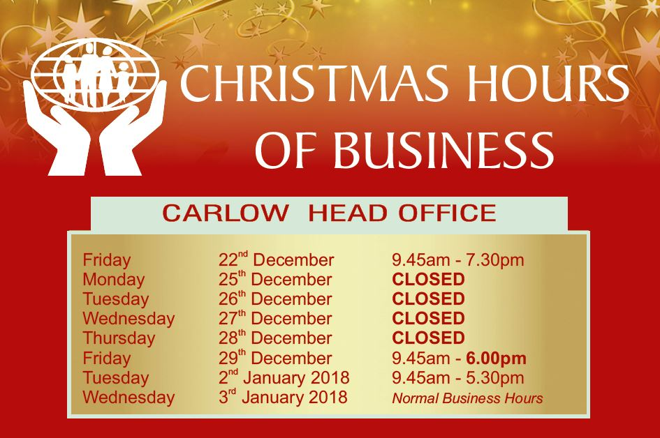 Christmas Business Hours