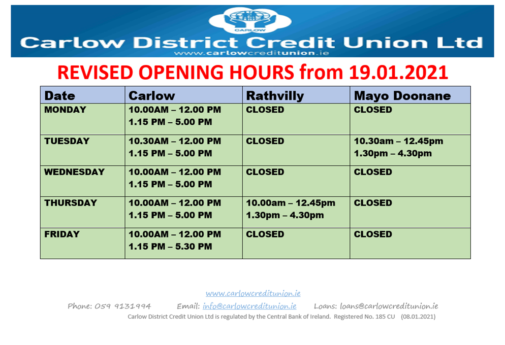 Business Hours 2021