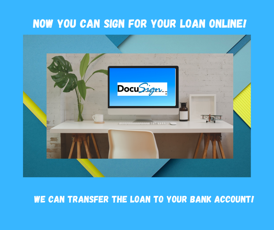 Docusign - sign for your loan online